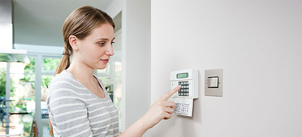 turning on the alarm panel