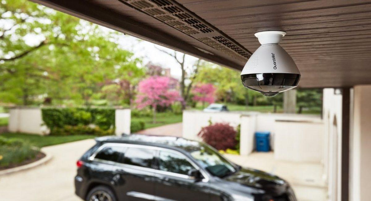 CCTV camera in garage area