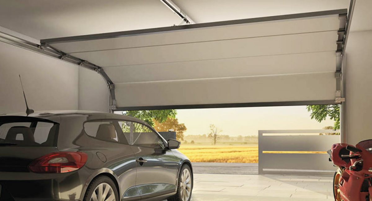 Garage door automatically opening