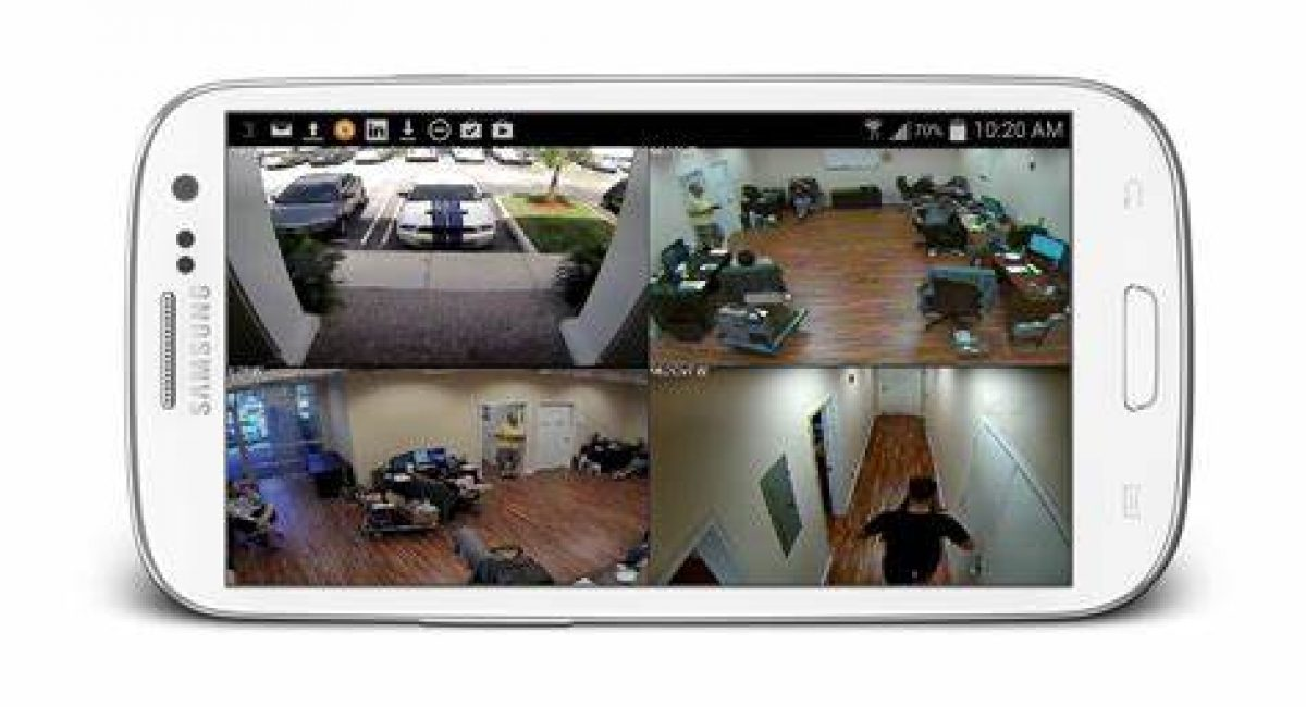 CCTV remote viewing with cellphone app