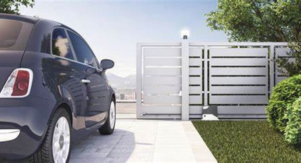 Gate automatically opening to let car out